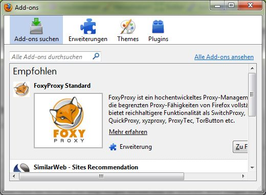 Add-on Verwaltung