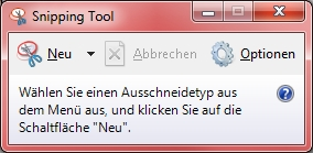 Abbildung Snipping Tool